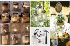 Recicla tarros de cristal para decorar en casa