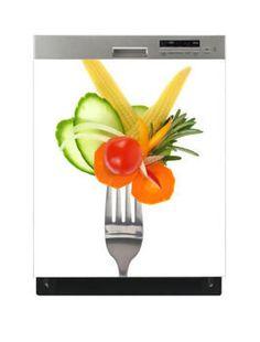 Naklejka na zmywarkę - Warzywa na widelcu 6514