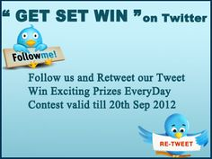 """Twitter contest """"GET SET WIN"""" Giveaway, Twitter, Amazing"""