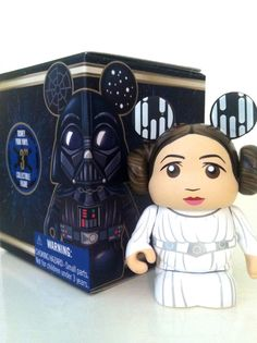 "DISNEY VINYLMATION 3"" STAR WARS SERIES 2 PRINCESS LEIA ROGUE ONE TOY FIGURE 