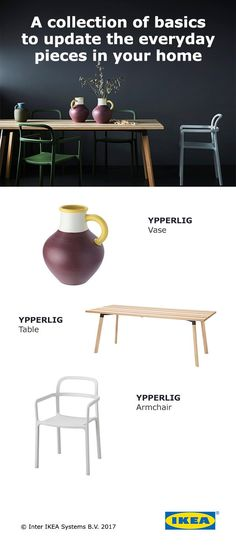 Introducing the IKEA YPPERLIG Collection, made in collaboration with Danish design duo HAY. The collection includes a wide variety of products, from large pieces like the YPPERLIG table to small, Scandinavian-inspired vases. Click to browse the entire collection.