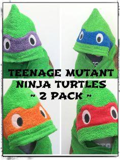 Teenage Mutant Ninja Turtle Hooded Towel 2 by AmbrosiasCreations
