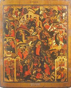 """icon depicting the events surrounding Christ's Nativity including Joseph being instructed in a dream.  the slaughter of the innocents. Full of Grace and Truth: """"The Word became flesh"""", by St. John of Kronstadt"""