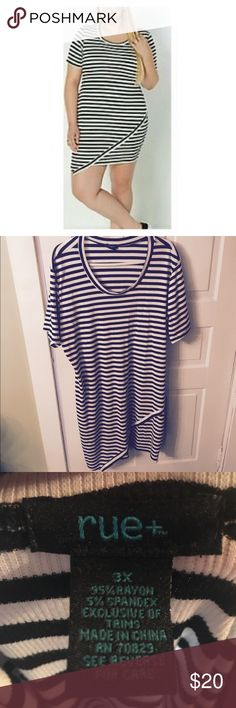 💥STRIPED DRESS💥 Super cute & slimming. Perfect for spring & summer. NWOT. Never worn before, the 2x fit me better. Rue 21 Dresses Mini