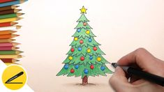 How to Draw a Christmas Tree step by step for kids | How to draw easy   How to draw a Christmas tree. In this video I show how to draw a Christmas tree (Holidays: New Year's day). I draw a Christmas tree step by step. A picture can make every one of you with his hands. Pleasant viewing and success in work!