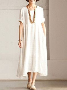 Women White Long Summer Dress