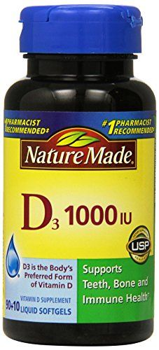 Nature Made Vitamin D3 1000 Iu Liquid Softgels 100 Count ** Read more reviews of the product by visiting the link on the image. (Note:Amazon affiliate link)