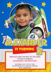 Buzz Lightyear Birthday Party Invitations Toy Story 4
