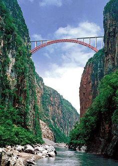 Beipanjiang bridge, the largest bridge railway in the world