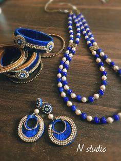Blue silkthread jewellery  #silkthreadjewellery #silkthreadjewelleryqatar