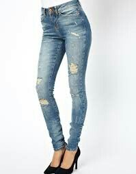 It's not as much fun to buy jeans with holes already in them all you need to do is fall and get a little dirty