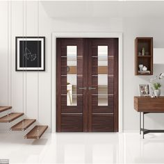Portici Walnut French Door  Portici Walnut Fully Finished Door Pair    The walnut Portici pair uses the large clear glazed panel with obscure etching to maximise the light which transfers between rooms.  The contemporary horizontal grains with real aluminium inlays, creating a stunning door pair that brings a wow factor to any home.  We aim to dispatch all orders within 48 hours, standard delivery is 3- 5 days. We can also offer Next Day Delivery  Visit us to know more about this product and…