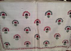 78x22 Cream Indian Tussar Silk Shawl Scarf with Hand Embroidery Long Scarf (0673). $25.99, via Etsy.
