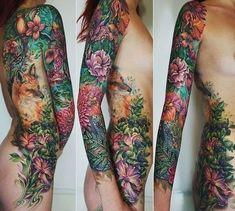 Nature Tattoo Sleeve Women, Sleeve Tattoos For Women, Side Tattoos, Body Art Tattoos, Hand Tattoos, Badass Tattoos, Cool Tattoos, Small Tattoos, Flower Of Life Tattoo
