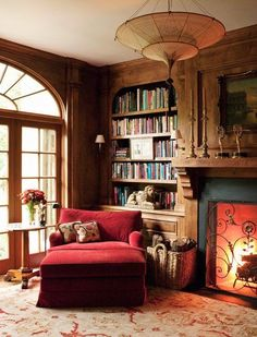 A crackling fire, a love seat to yourself.. what more could a reader ask for!