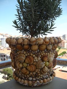 Pin by Sabrina Sankt on Blumentopf Seashell Art, Seashell Crafts, Sea Crafts, Diy And Crafts, Seashell Projects, Shell Decorations, Decorated Flower Pots, Creation Deco, Sea Shells