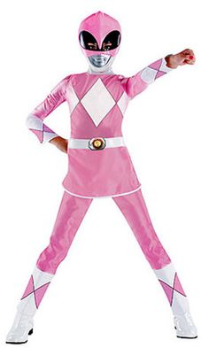 Power Rangers Pink Ranger Deluxe Child Costume Description: She may be petite, but this pink ranger packs a powerful punch! Become one of the Power Rangers with this Pink Ranger Halloween Costumes For Girls, Diy Costumes, Halloween Ideas, Costume Ideas, Funny Costumes, Family Costumes, Halloween 2016, Family Halloween, Halloween Makeup