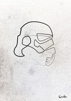 This artist creates portraits using one continuous line. Storm Trooper