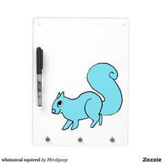 whimsical squirrel dry erase board