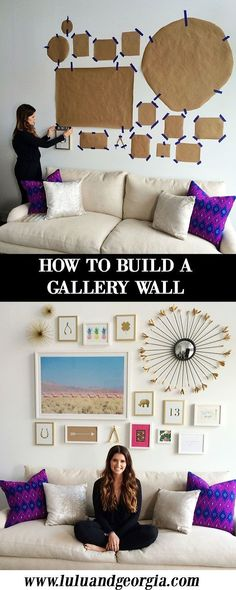 HOW TO: Building a Gallery Wall. Choose larger pieces as anchors. Choose a… HOW TO: Building a Gallery Wall. Choose larger pieces as anchors. Choose a color scheme. Play with scale – vary the size… Continue Reading → Design Salon, Design Room, Design Art, Shelf Design, Design Concepts, Icon Design, Diy Casa, Home And Deco, My Living Room