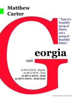 Georgia typeface (Matthew Carter)