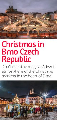 Visiting the Czech Republic this Christmas Season? Head to Brno, the country's second largest city, for a special Christmas atmosphere. Sweets, delicacies, handicrafts, and more can be found at Brno's Christmas market! #brno #czechrepublic #christmas #europe #travel #christmasmarkets #winter