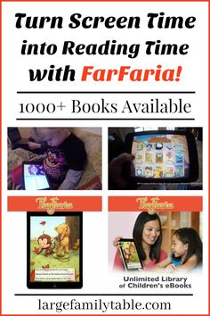 Turn Screen Time Into Reading Time With FarFaria Unlimited eBook Library available through sponsor @educents !!