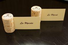 Mariage thème vin vigne bouchon marque place étiquette