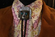 Ethnic 1970s Aztec Tin Man Bolo Tie by WilburVintage on Etsy, $30.00