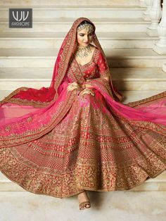 Buy Bridal Pink Lehenga, Silk Wedding Lehenga Choli - VJV Fashions Call/WhatsApp for Purchase Inqury : Designer Bridal Lehenga, Pink Bridal Lehenga, Pink Lehenga, Lehanga Bridal, Sabyasachi Lehenga Bridal, Sabhyasachi Lehenga, Pink Kurti, Indian Bridal Outfits, Indian Bridal Fashion