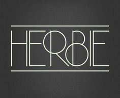 Herbie is a uppercase display font with alternates on every character (lowercase), based only on circles and geometric lines. Herbie is inspired by, as the name might indicate, Herb Lubalin's work and the decorative style and kerning of his era. Art Deco Typography, Typography Served, Creative Typography, Typography Letters, Graphic Design Typography, Typography Inspiration, Graphic Design Inspiration, Deco Font, Types Of Lettering