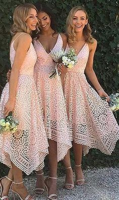 Full Lace Spaghetti Straps V-neck Pink Hot Sale Bridesmaid Dress. Pink Lace Unique With Straps V-Neck Simple Elegant Vintage Wedding Bridesmaid Dresses. Lace Unique With Straps V-Neck Simple Elegant Vintage Wedding Bridesmaid Dresses. Perfect Wedding, Dream Wedding, Wedding Day, Wedding Gowns, Wedding Ceremony, Destination Wedding Dresses, Wedding Season, Wedding Shoes, Simple Church Wedding