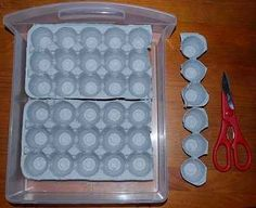 Use egg cartons to organize your stuff, like, say, your vast nail polish collection or jewelry or whatever.
