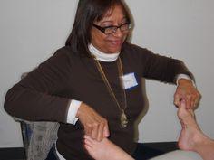 Working upper sympathetic nerve reflexes. www.AmericanAcademyofReflexology.com