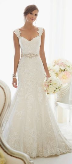 beautiful dress. I really like lace wedding dresses.
