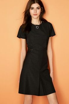 Buy Black Embossed Workwear Dress from the Next UK online shop Capsule Wardrobe Work, Party Dresses For Women, Latest Fashion For Women, Dresses Online, Work Wear, Evening Dresses, Fashion Dresses, Short Sleeve Dresses, Style Inspiration