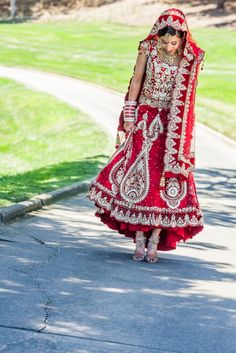 Indian Wedding in California by IQ Photo I love her wedding outfit!