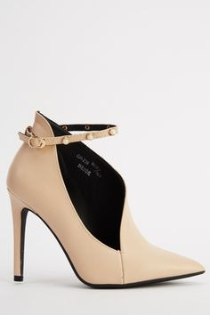 Cut Out Studded Ankle Strap Heels - Grey£5 - on Everything5pounds.com