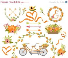 On Sale Wedding Clipart  Laurel Clipart  Wreath by Kelly Jane Creative https://www.etsy.com/listing/162590999