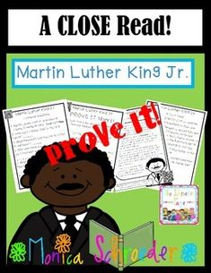 Friends~ I am so excited to bring you my new Martin Luther King Jr. Close Read. My students are loving the close reads in our listening center. We have been working on them in guided reading groups and my students are doing an awesome job practicing their close reads in our listening centers.  Included you will find:  $2.99