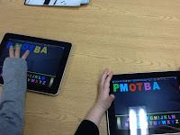 Making words on iPads
