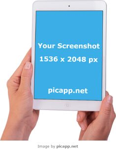 Place your new iOS app screenshot in this beautiful image with a white iPad Air 2 in hand with just one click. You don't need technical skills. Picapp.net makes the magic for you. The best part at Picapp.net :  FREE DOWNLOAD. #ipad2 #nobackground #ipadinhand #mockup #apple