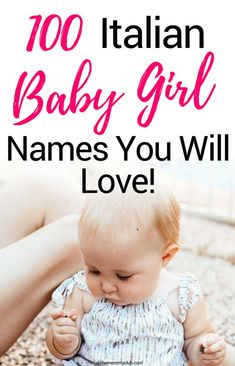 Italian names for baby girls are unique and very beautiful! naming your sweet angel is sometimes hard because you want her name to be perfect! Twin Girl Names, Baby Girl Names Unique, Italian Girl Names, Italian Girls, Italian People, Vintage Italian, Project Finance, Girl Names With Meaning, Baby Names And Meanings