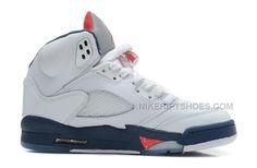 half off b29d0 d51dd Air Jordan 5 Retro White Varsity Red-Obsidian. Nike ShoesShoes UkShoes ...