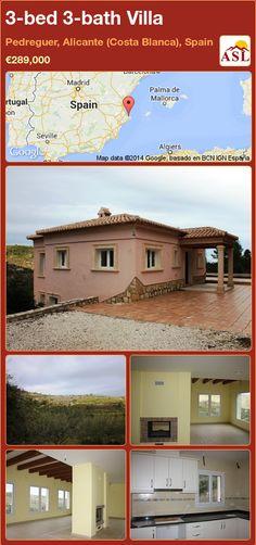3-bed 3-bath Villa in Pedreguer, Alicante (Costa Blanca), Spain ►€289,000 #PropertyForSaleInSpain