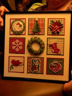 Pretty Christmas project with Stampin Up products.