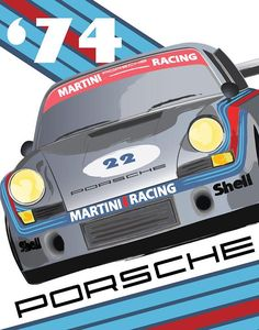 Porsche Porsche Poster Martini race Porsche 911