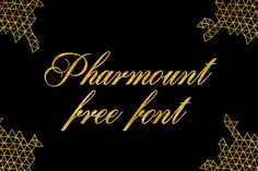 DLOLLEYS HELP: Pharmount Free Font