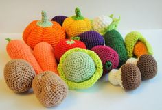 Pretend play 10 pcs Crochet set Play Kitchen  by Crochetpumpkin