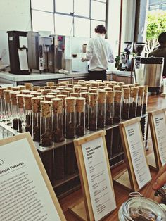 Coffee Bean Test Tubes SF Coffee San Francisco Coffee Beans Coffee And Cigarettes at Front by sarah swangler on EyeEm